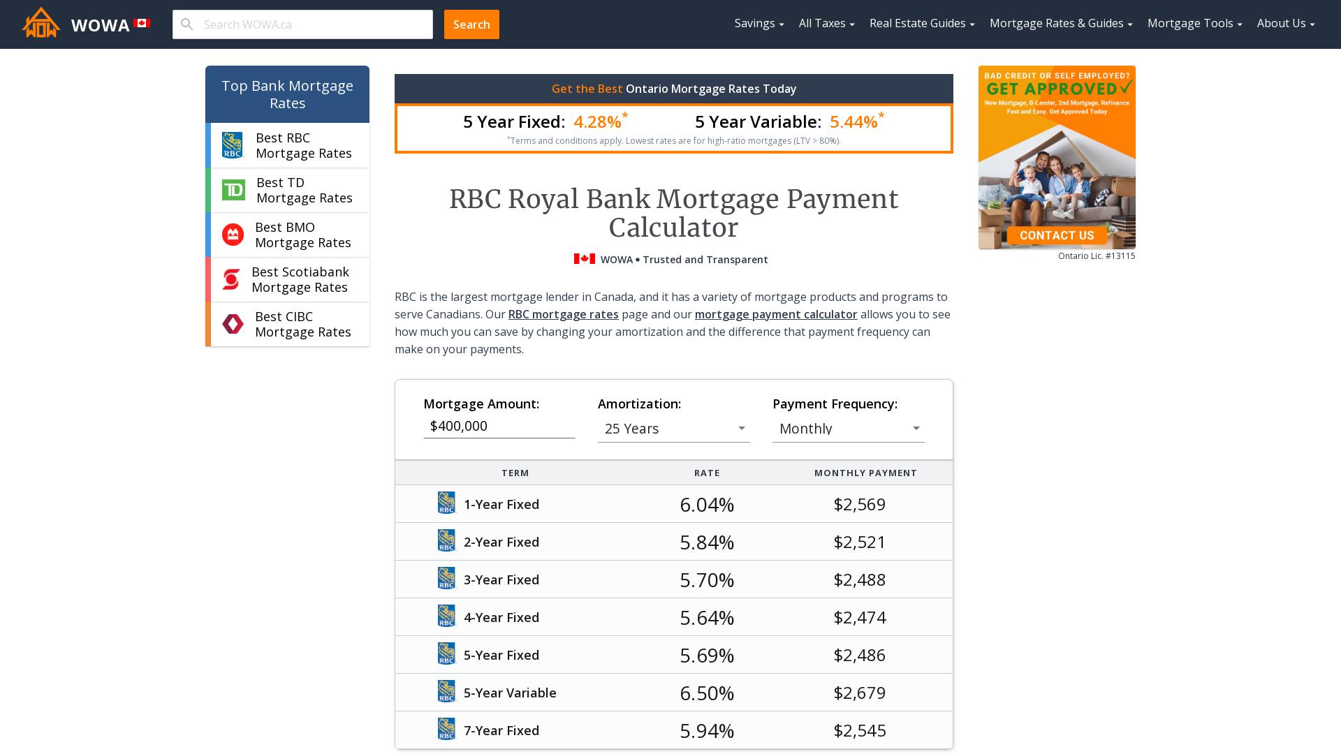 royal bank car loan calculator canada