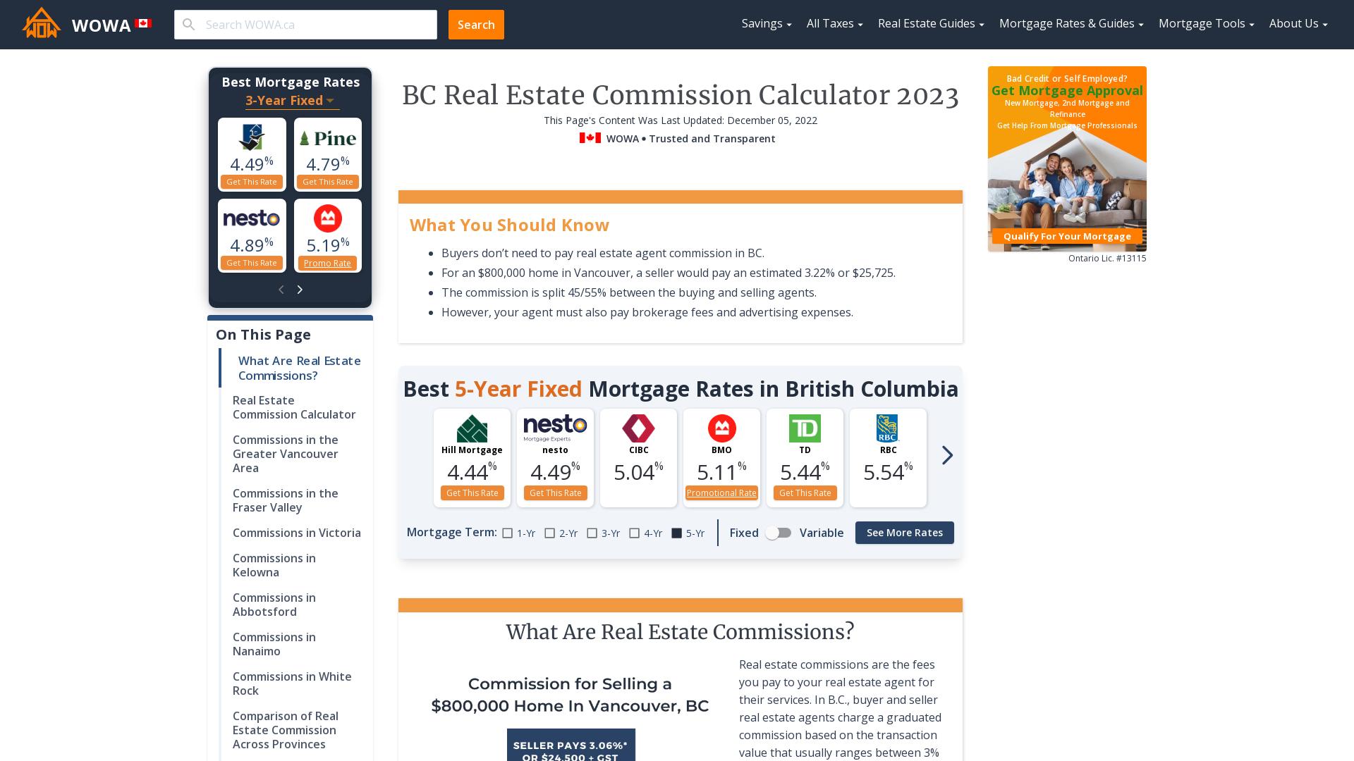 Bc Real Estate Commission Calculator Wowa Ca