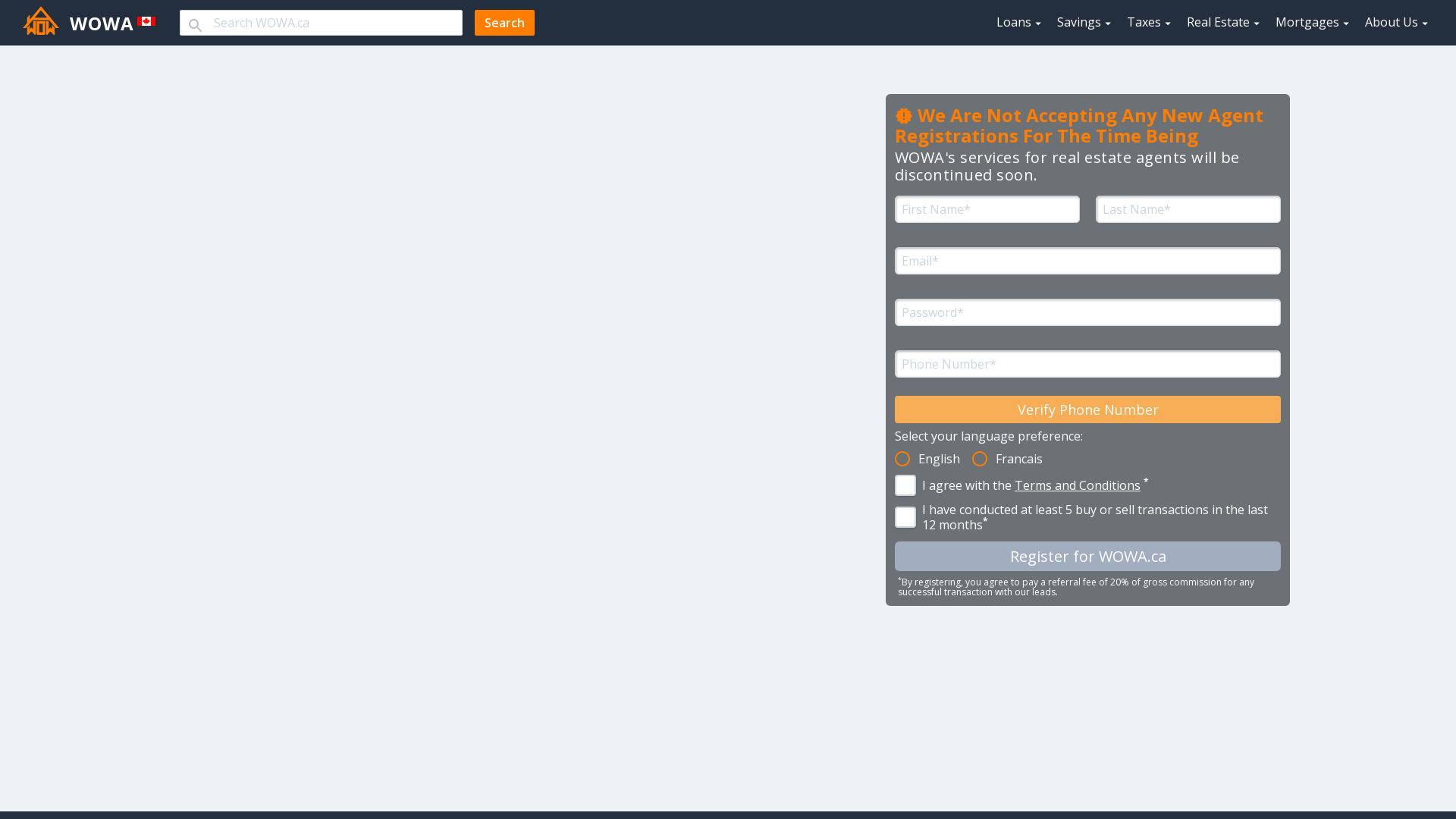 Register as an Agent - WOWA